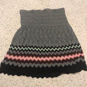 M Missoni multicolor knit zig zag skirt L 10-12